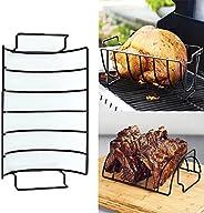 Sdkmah9 - Supporto per mensole per barbecue, antiaderente, per grigliare, carne di manzo, arrosto, in acciaio