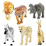 Unibos 6 Piece Plastic Model Wild Jungle Animals Polybag Safari Animal Playset Kids Toys Great Gift Brand New