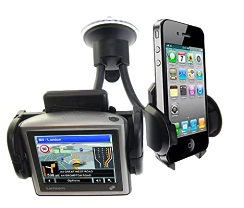 Modern-Tech In-Car Dual Windscreen Suction Holder Mount for Sat Nav