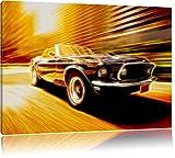 Shelby gt 500 Format: 100x70 auf Leinwand, XXL riesige Bilder fertig gerahmt mit Keilrahmen, Kunstdruck auf Wandbild mit Rahmen, günstiger als Gemälde oder Ölbild, kein Poster oder Plakat