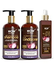 WOW Skin Science Onion Black Seed Oil Ultimate Hair Care Ki