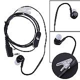 Zantec 2 Pin In Ear Earphone Earpiece Sports Headset PTT MIC for BAOFENG KENWOOD Retevis HYT Radio L3FE