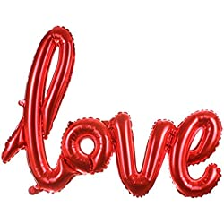 Globo love en rojo 108x 64cm