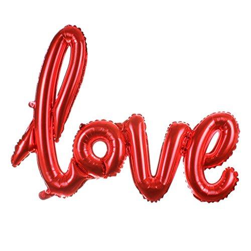Interesting® Amor carta Foil globo aniversario San Valentín decoración fiesta Globo globos de amor de novia para boda