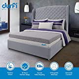 Durfi 6-inch Queen Size Memory Foam Mattress (Grey, 75x60x6)