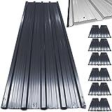Deuba 12 x Profilblech Trapezblech 129cm x 45cm = 7 m² -Dachblech für Gerätehaus Anthrazit