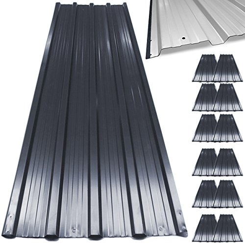 deuba-corrugated-roof-sheets-129-x-45-cm-profiled-galvanised-metal-cladding-grey-12-count
