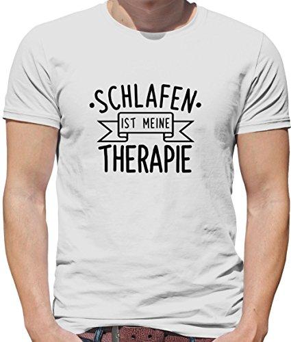 Dressdown Schlafen ist Meine Therapie - Herren T-Shirt - Weiß - S