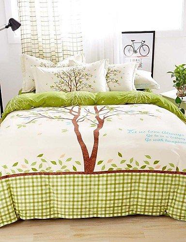 ZQ mingjie? Betten Sets 4Queen Größe ADN King Size Jungen und Mädchen koreanisch Love Bäume grün Bettwäsche China machen, King, King Size (Koreanisch Mädchen Bettwäsche)