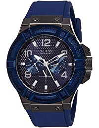 Guess Herren-Armbanduhr Rigor Analog Quarz Silikon W0248G5