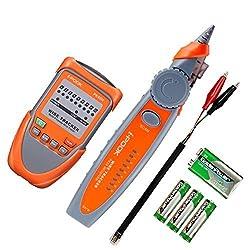 Eivotor Netzwerktester Rj45 Rj11 Kabeltester Wire Tracker Draht Tester Kabelfinder Telefonkabel Verfolger Lan Cable Netzwerk Kabelsucher Leitungssucher Ethernet Leitungsdetektor Mit Taschenlampe