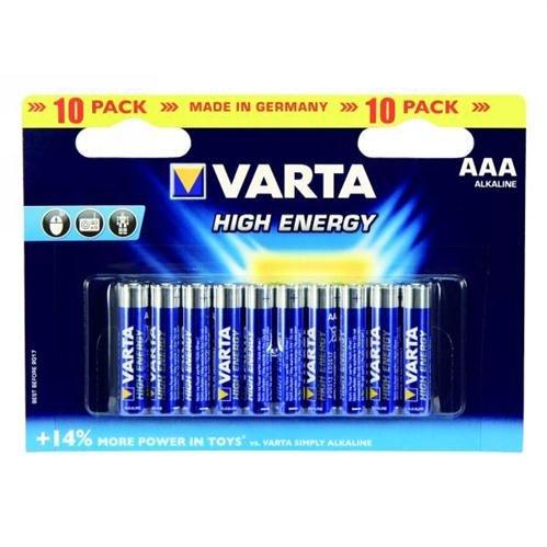 Varta 4903 High Energy Micro Batterie AAA 10er-Blister Lr03