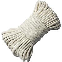 EDGEAM Baumwollkordel Seil 4mm Geflochten Kordel Baumwolle rohweiß (10 Meter)