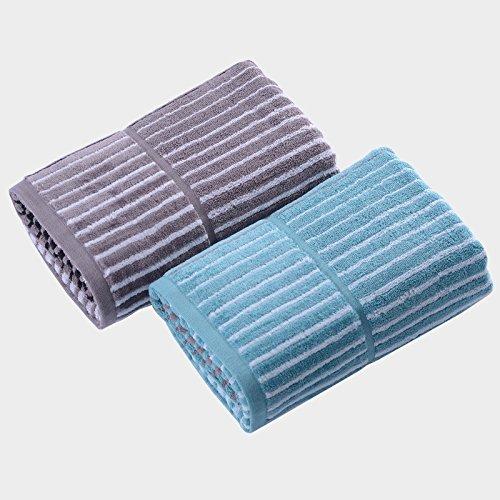 DANCICI Baumwolle Farbe weben Ausschneiden antibakterielle Handtuch (70 * 140 cm 380 Gramm/Artikel), blau Blau
