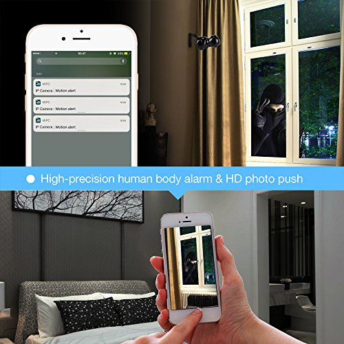 1080P HD Wireless Wlan/Wifi IP Kamera Überwachungskamera 2MP Aoleca Zweiwege-Audio Indoor Kabellose Security IP Cam Home Baby Monitor Mit Bewegungserkennung - 6