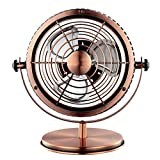 Silk Road Fan/Tischventilator Fan-USB-Plug-in-Modell (Schmiedeeisen Retro, 6 Zoll)