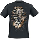 Photo de Johnny Cash Lyrics T-Shirt Manches courtes noir par Johnny Cash
