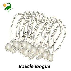 50 « STANDARD » tendeurs élastiques, extenseurs, bungees, attaches d'extenseurs, cordes élastiques d'extenseurs, sangles élastiques, tendeurs à boules, sangle d'attache trampoline, bâches, remorque, chapiteau, belvédère