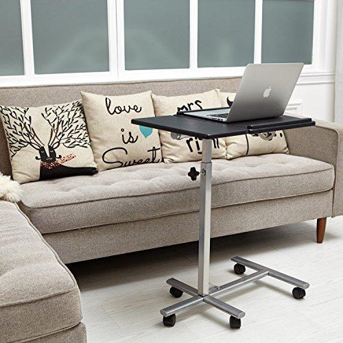 2 Schublade Nachttisch Holz-finish (Einstellbare Laptop Tisch Schreibtisch Sofa Nachttisch Coavas 5 Einstellbare H?he Starke Laptop Schreibtischst?nder Notebook Computer Tisch mit R?dern (schwarz))