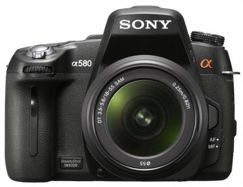 Sony DSLR-A580L SLR-Digitalkamera (16 Megapixel, Live View, Full HD, 3D Sweep Panorama) Kit inkl. 18-55 mm Objektiv