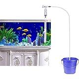 UEETEK Acuario Fish Tank Gravel Sand Cleaner Sifón bomba de agua con cargador de agua de flujo de ajuste (Squeeze Free)