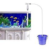 UEETEK Aquarium Fisch Tank Kies Sand Reiniger Siphon Pumpe Wasser Ladegerät mit Wasser Flow Adjuster (Squeeze Free)
