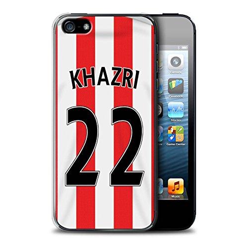 Offiziell Sunderland AFC Hülle / Case für Apple iPhone SE / Pack 24pcs Muster / SAFC Trikot Home 15/16 Kollektion Khazri