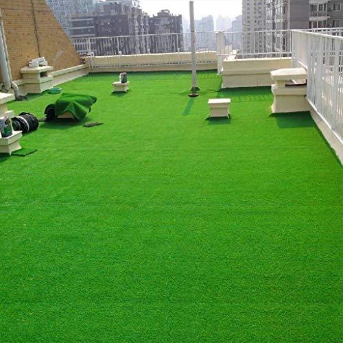 YUER Kunstrasen im Freien, grüner künstlicher Rasen mit hoher Dichte Rasen von Hunden Haustiere Natürlich und realistisch aussehender Garten Ordentlich üppige Florhöhe 2 m * 2,5 m (Size : 30mm)