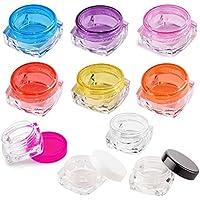 Urhause 25PCS Vuoto Plastica bicchieri con coperchio per creme/Sample/cosmetici Make-up, porpora (5g)