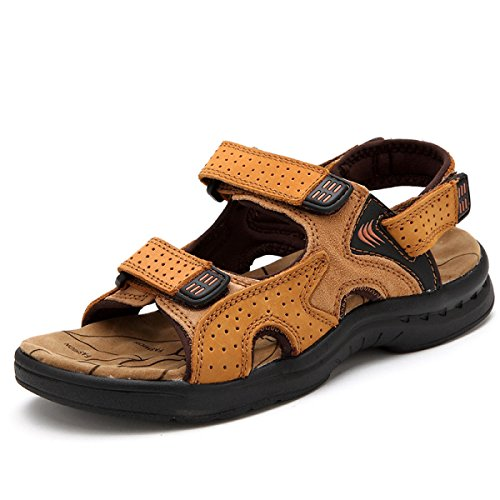 Lxxamens Summer Beach Sandals Sport Chaussures De Trekking En Cuir Véritable Athletic Yellow Chaussures De Tennis