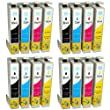 Compatible Epson Stylus SX235W Ink Cartridges 4X Black 4X Cyan 4X Magenta 4X Yellow (16-Pack)