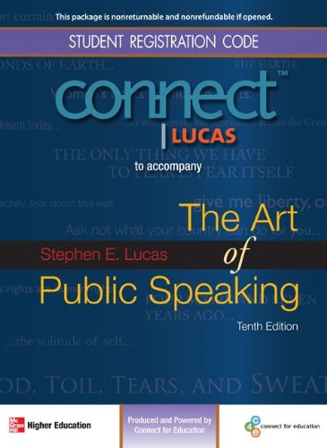 Connect Public Speaking 1 Semester Access Card for The Art of Public Speaking