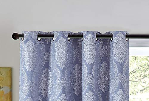 Pimpamtex, modello jacquard orinoco - tende oscuranti per salotto, cameretta e camera da letto, 2 unità, con 8 occhielli, 140 x 260 cm