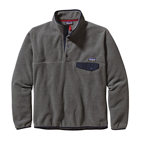 Patagonia Synchilla Snap-T Pullover Men - Leightweight Fleecepullover Grau