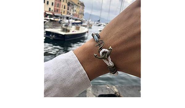 Braccialetto Unisex Bracciale Ancora Velvet Portofino Marine Anchor Bracelet