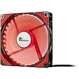 LED 120mm Fan Gehäuselüfter Gaming Case Modding Beleuchtet (Rot)