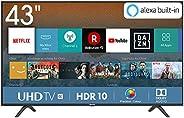 Hisense H43BE7000 108 cm (43 Zoll) Fernseher (4K Ultra HD, HDR, Triple Tuner, Smart-TV, Standard) [Modelljahr