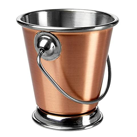 Copper Food Presentation Bucket 7cm - Mini Pail with Handle for Serving Food by Sunnex
