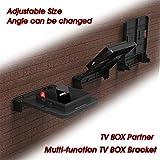 Rabusion Soporte de Montaje Plegable para Android TV Box Set Top Box Soporte Estante de Pared Soportes de Almacenamiento Single Space Shelf