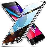 ESR Cover iPhone 8, Cover iPhone 7, Custodia Protettiva con Retro in Vetro Temperato 9H [AntiGraffio] + Cornice Paraurti Morbida [Anti Urti] per iPhone 8/7. (Clear)