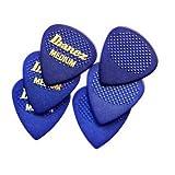 Ibanez BPA16MR-BL Lot de 6 médiators en caoutchouc Grip Wizard, épaisseur Medium (Bleu)