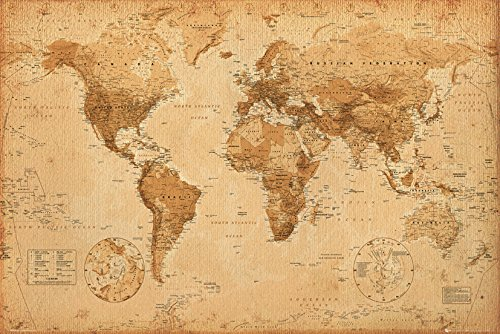 Mapa antiguo Vintage decorativo
