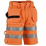 Blakläder kurze Warnschutz Arbeitshose Klasse 2 1535, Farbe:orange;Größe:52