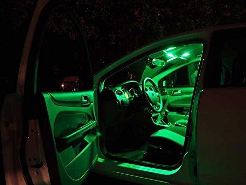 Preisvergleich Produktbild SkodaSuperb3T4 Grün Licht Innenraumbeleuchtung Set, mit Check Widerstand, Plug & Play Einbau, Umrüstsatz von Jurmann Trade GmbH®