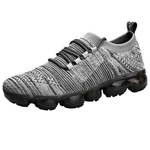 ALIKEEY Moda per Tempo Libero Uomini Antiscivolo Tinta Unita Traspirante Allacciatura Leggero Sport Corsa Scarpe da Trekking Ginnastica Allenamento Fitness Casual Escursionismo Sneakers
