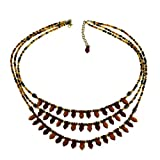 Antique Inspired Cascade Beaded Necklace Fashion Jewellery Costume Indian