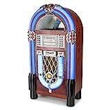 Auna Graceland TT Jukebox Vintage • Tocadiscos • Reproductor de Vinilos • Rockola Discos • MP3, Bluetooth, CD, AUX, FM
