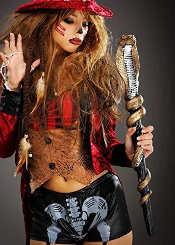 Magic Box Int. Gold Cobra Schlange Voodoo Witch Doctor Staff Scepter