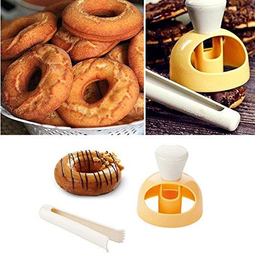 nt Kuchen Kunststoff Bäckerei DIY gebraten Donut Maker Cutter ()