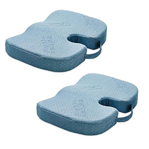 Miracle Bamboo Cushion 2 Stk Sitzkissen Stützkissen gesundes Sitzen gerade Wirbelsäule Stütze Rückenstütze ergonomisch Mediashop (Faser-stützkissen)